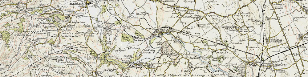 Old map of West Tanfield in 1903-1904