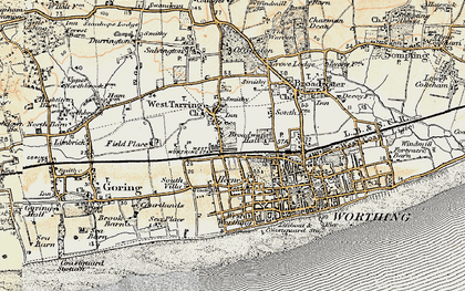 Old map of West Tarring in 1898