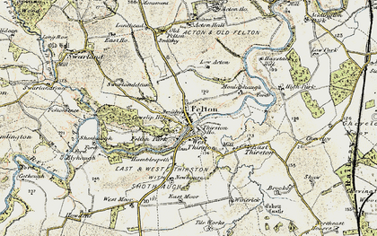 Old map of West Thirston in 1901-1903