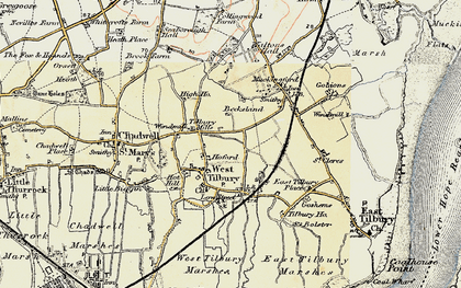 Old map of West Tilbury in 1897-1898