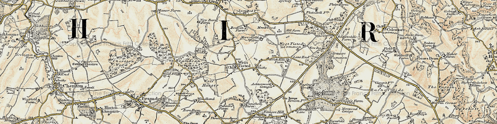 Old map of West Tisted in 1897-1900