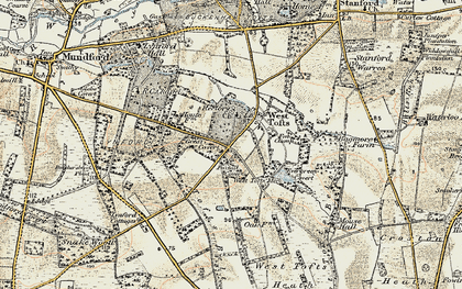 Old map of West Tofts Heath in 1901