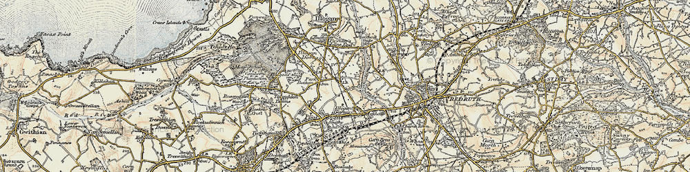 Old map of West Tolgus in 1900