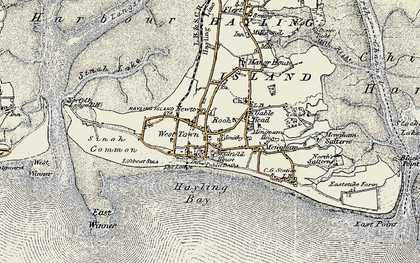 Old map of West Town in 1897-1899
