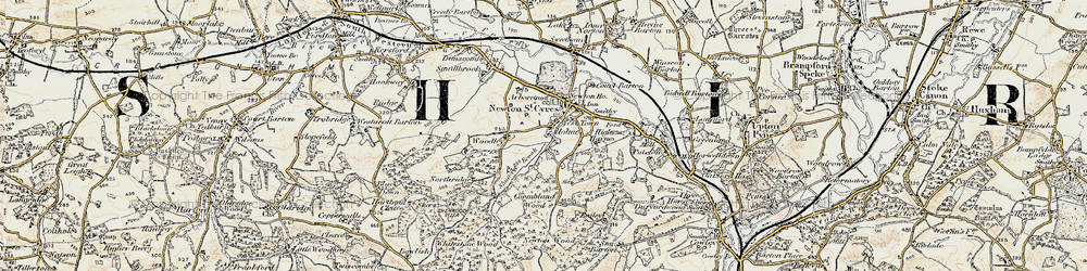 Old map of West Town in 1899-1900