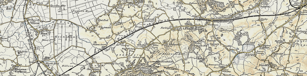 Old map of West Town in 1899