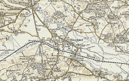 Old map of West Town in 1900-1903