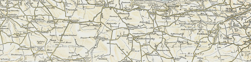 Old map of West Town in 1900