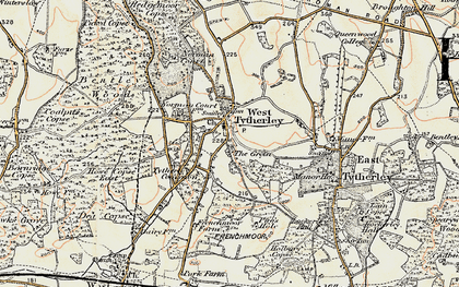 Old map of West Tytherley in 1897-1898