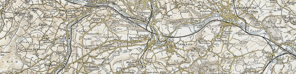 Old map of West Vale in 1903