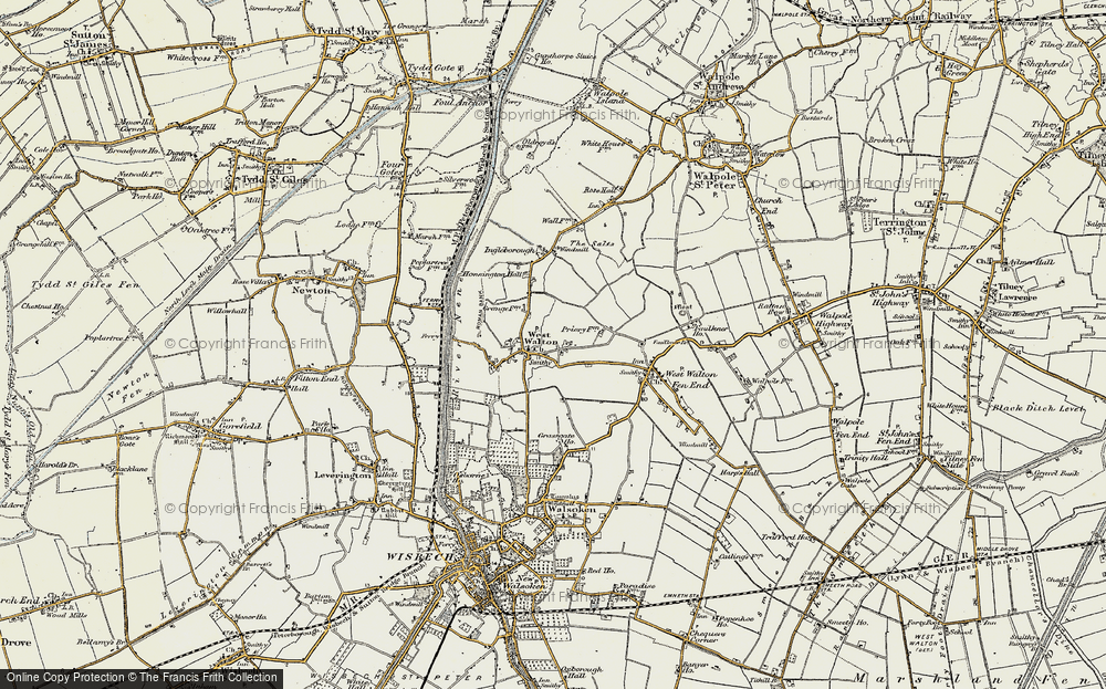 Old Map of West Walton, 1901-1902 in 1901-1902