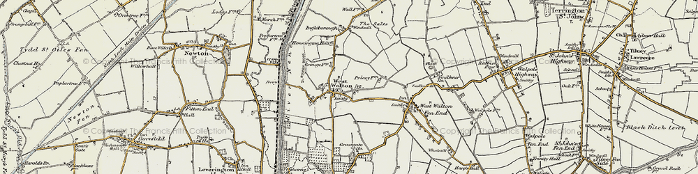 Old map of West Walton in 1901-1902