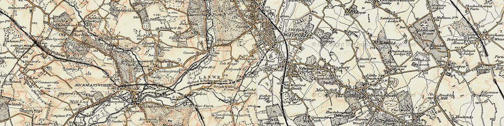 Old map of West Watford in 1897-1898