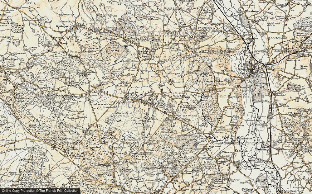 Old Map of West Wellow, 1897-1909 in 1897-1909