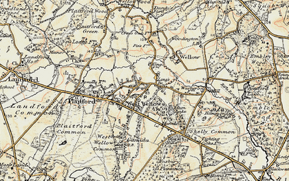 Old map of West Wellow in 1897-1909