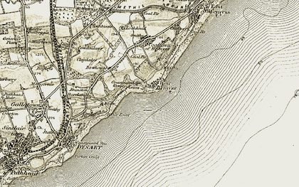 Old map of West Wemyss in 1903-1908