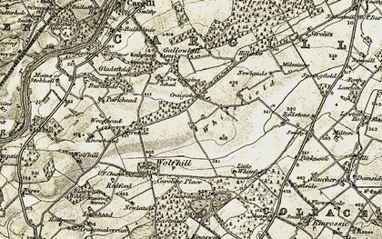 Old map of West Whitefield in 1907-1908