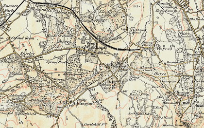 Old map of West Wickham in 1897-1902