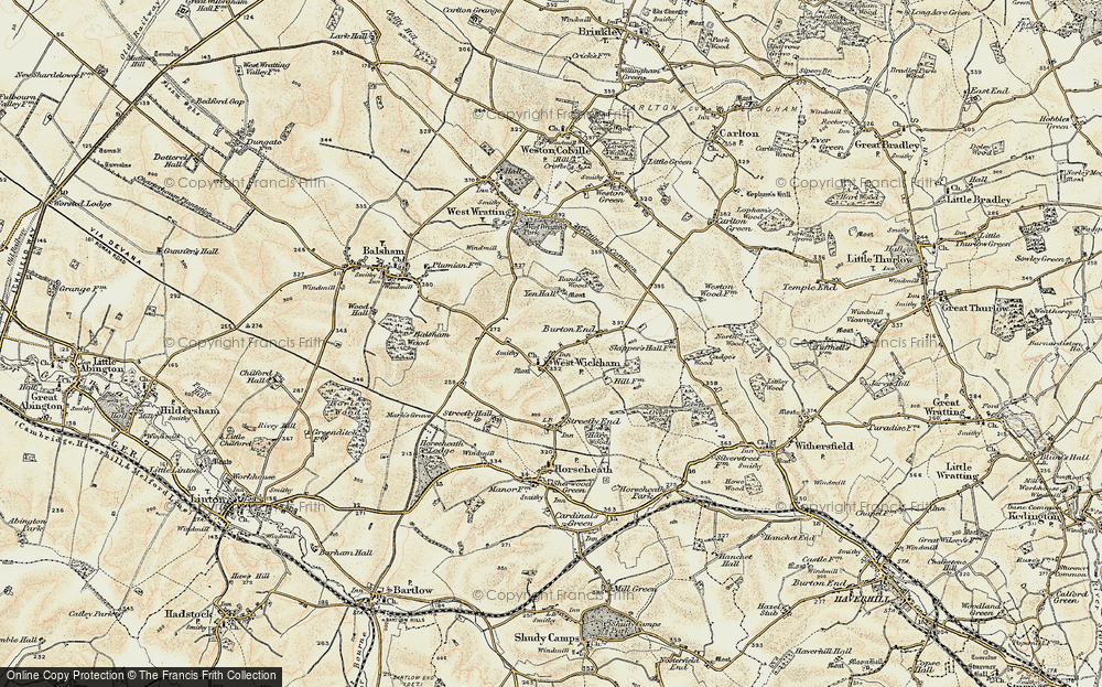 Old Map of West Wickham, 1899-1901 in 1899-1901