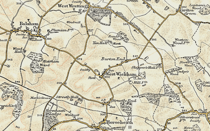 Old map of West Wickham in 1899-1901
