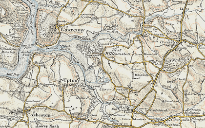 Old map of West Williamston in 1901-1912