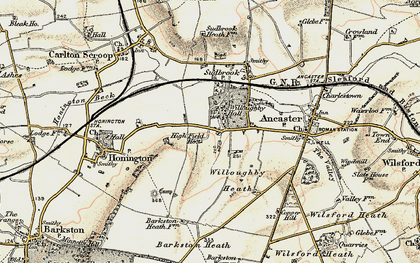 Old map of Willoughby Heath in 1902-1903