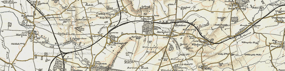 Old map of West Willoughby in 1902-1903