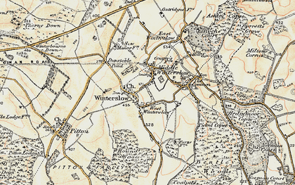 Old map of West Winterslow in 1897-1898