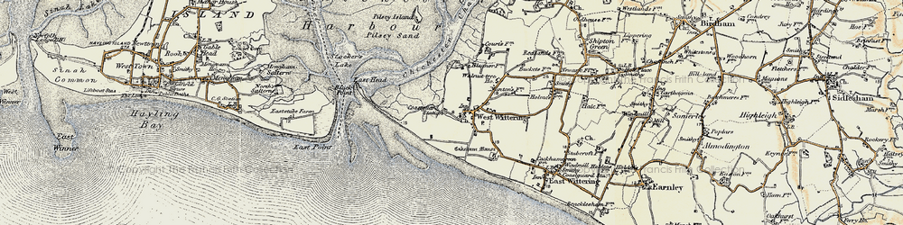 Old map of West Wittering in 1897-1899