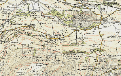 Old map of West Witton in 1903-1904