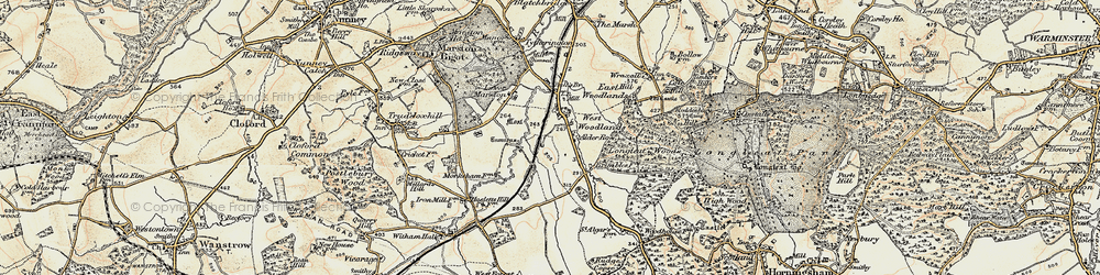 Old map of West Woodlands in 1897-1899
