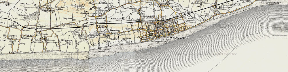 Old map of West Worthing in 1898