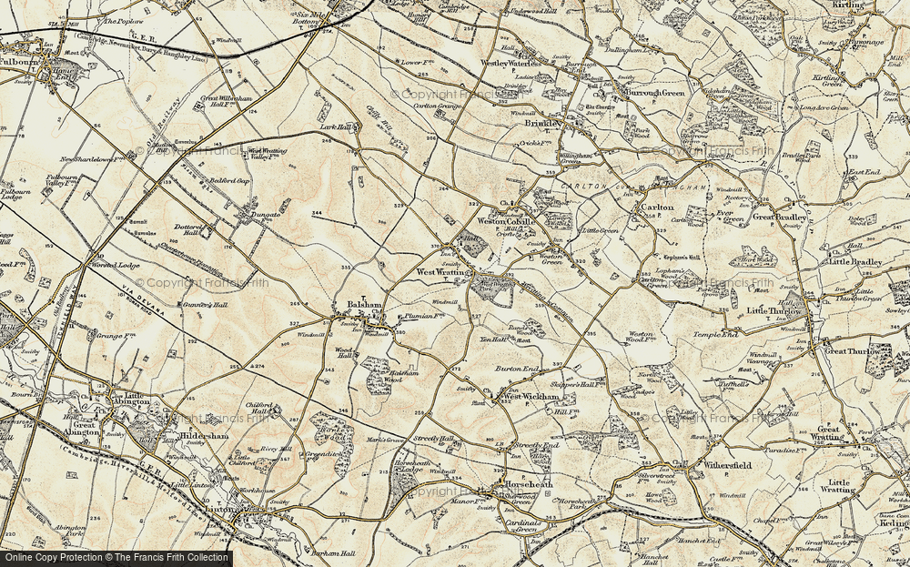 Old Map of West Wratting, 1899-1901 in 1899-1901