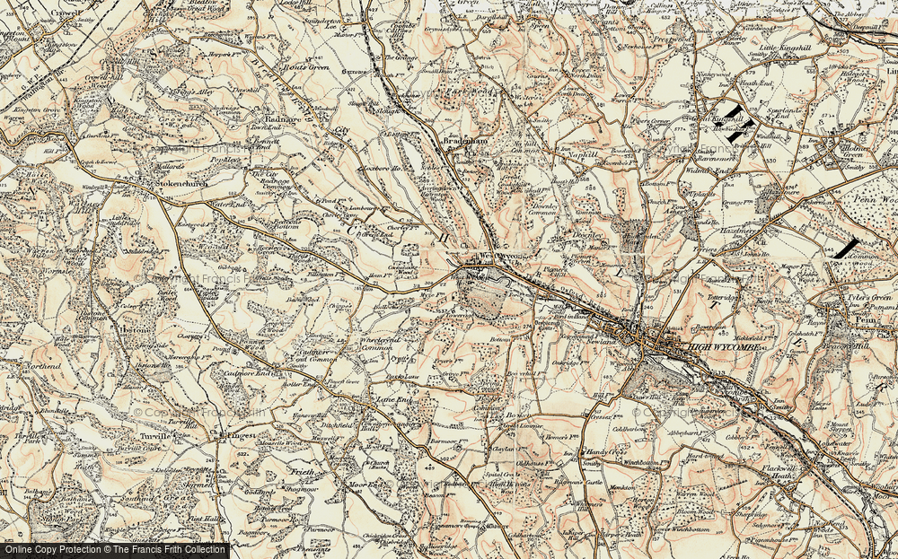 Old Map of West Wycombe, 1897-1898 in 1897-1898