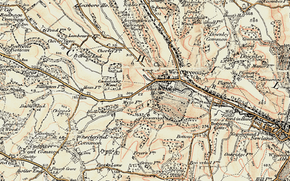 Old map of West Wycombe in 1897-1898