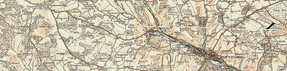 Old map of Windyhaugh Ho in 1897-1898