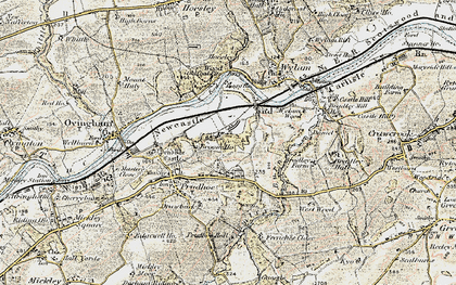 Old map of West Wylam in 1901-1904