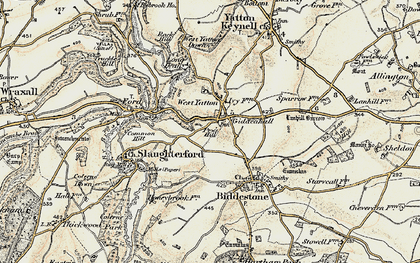 Old map of West Yatton in 1898-1899