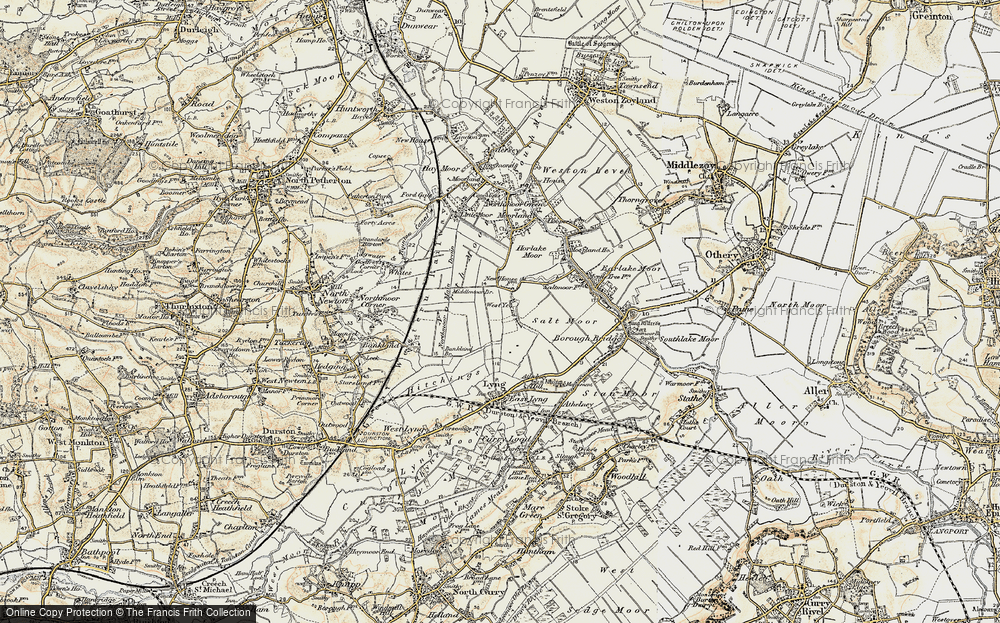 Old Map of West Yeo, 1898-1900 in 1898-1900