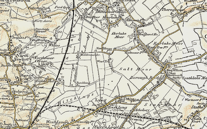 Old map of West Yeo in 1898-1900