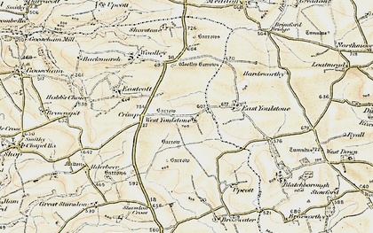 Old map of West Youlstone in 1900
