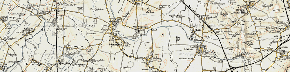 Old map of Westborough in 1902-1903