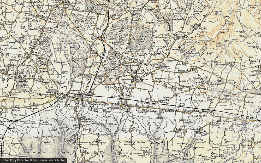 Old Map of Historic Map covering Aldsworth in 1897-1899