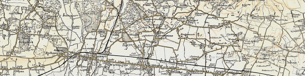 Old map of Westbourne in 1897-1899