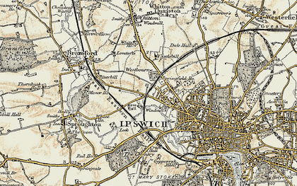 Old map of Westbourne in 1898-1901