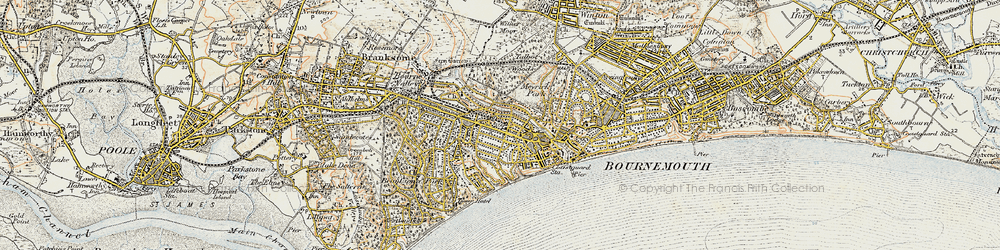 Old map of Westbourne in 1899-1909