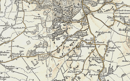 Old map of Westbrook in 1898-1899