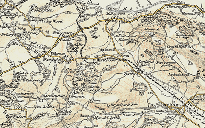 Old map of Westbrook in 1900-1902