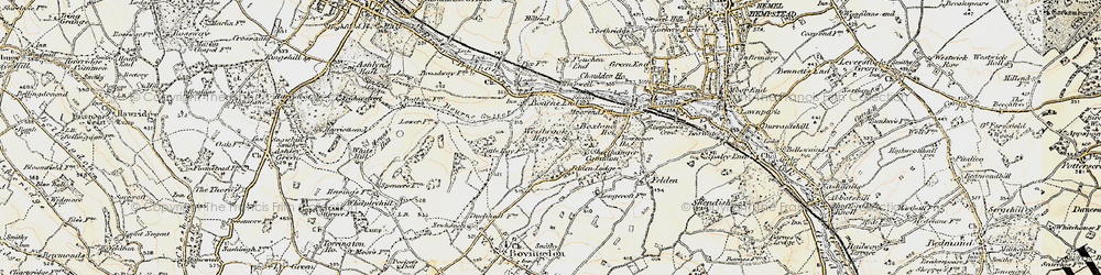 Old map of Westbrook Hay in 1897-1898
