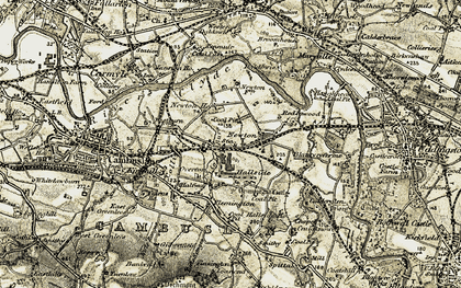 Old map of Westburn in 1904-1905